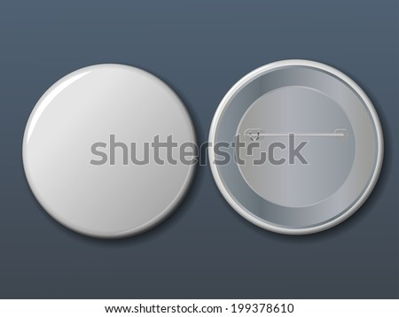 Vector white badge with place for your text.  - stock vector