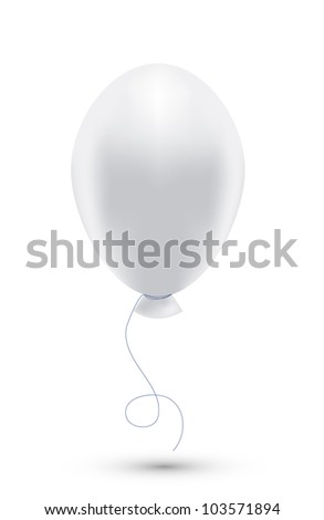 Vector white balloon isolated on white. Eps10 - stock vector