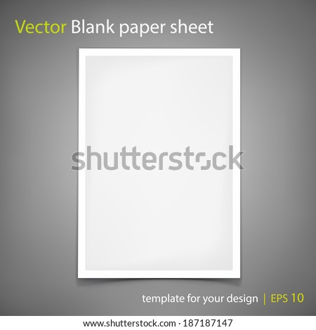 White Paper Shadow Photos RoyaltyFree Images and Vectors – Free White Paper Template