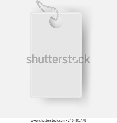 Vector white card with a chain