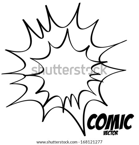 Vector White Comic Effect Element Empty Isolated