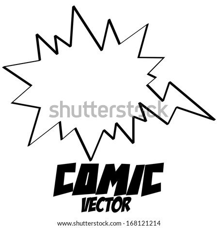 Vector White Comic Speech Bubble Empty Isolated - stock vector