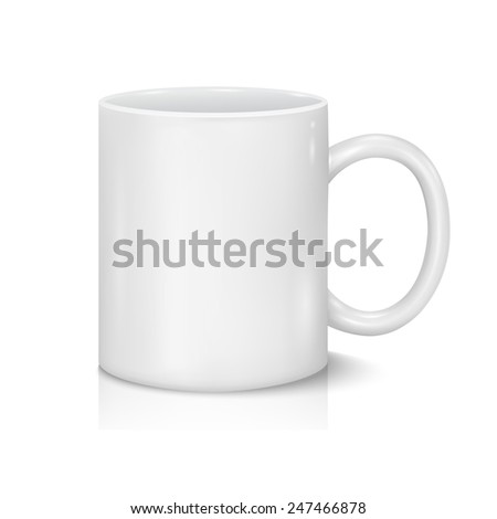 Vector White Cup for Business Branding and Corporate Identity - stock vector