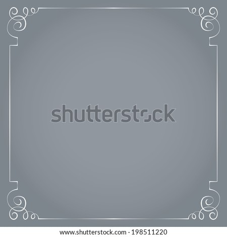 Vector white frame on a gray background. - stock vector