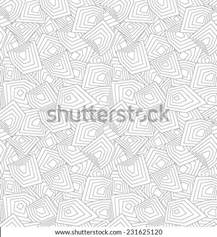 Vector white geometric pattern - stock vector
