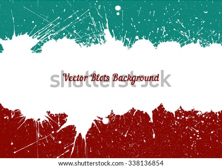Vector white ink splashes with space for text over retro colors. Element for your designs, projects, promotional sales and other your projects. Just add your text - stock vector