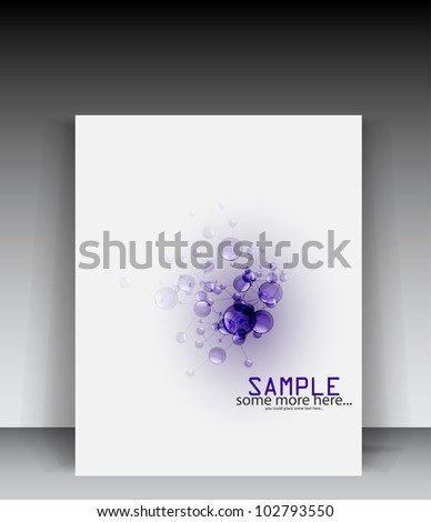 Vector white molecule science brochure - stock vector