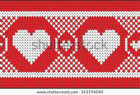 Vector white nordic christmas ornament heart - stock vector