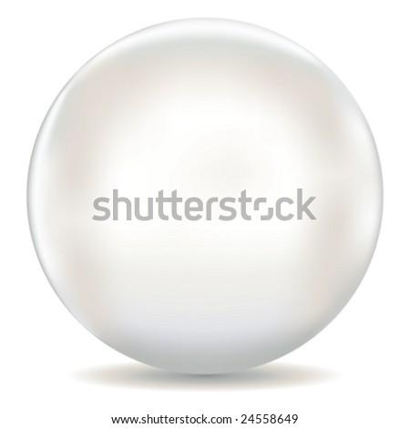 Vector  White Pearl (Raster version 25522972) - stock vector