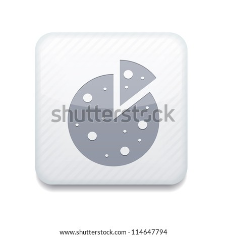 Vector white pizza icon. Eps10. Easy to edit - stock vector