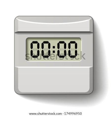 vector white plastic LCD counter  - stock vector