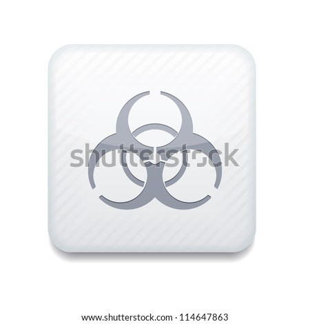 Vector white radiation icon. Eps10. Easy to edit
