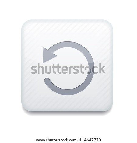 Vector white repeat icon. Eps10. Easy to edit - stock vector