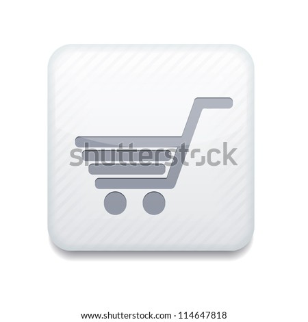 Vector white Shopping icon. Eps10. Easy to edit - stock vector