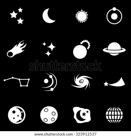 Vector white space icon set