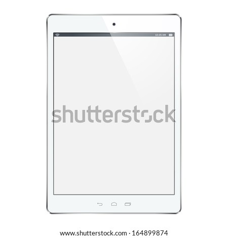 Vector white tablet computer - stock vector