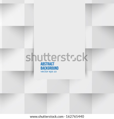 Vector white triangle. Abstract  and grey background