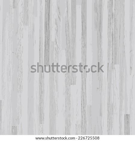 Vector white wooden texture background. - stock vector