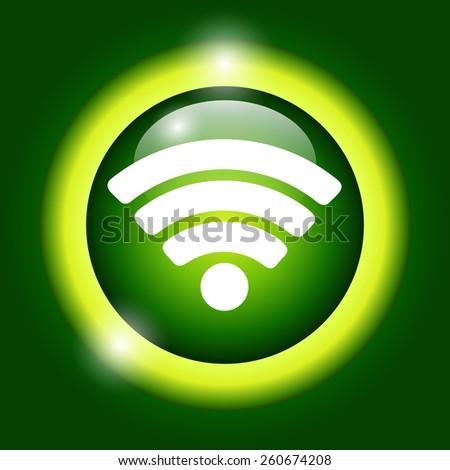 Vector Wi-Fi network icon. Illustrator EPS 10 - stock vector