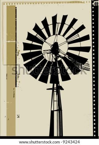 vector windmill - stock vector