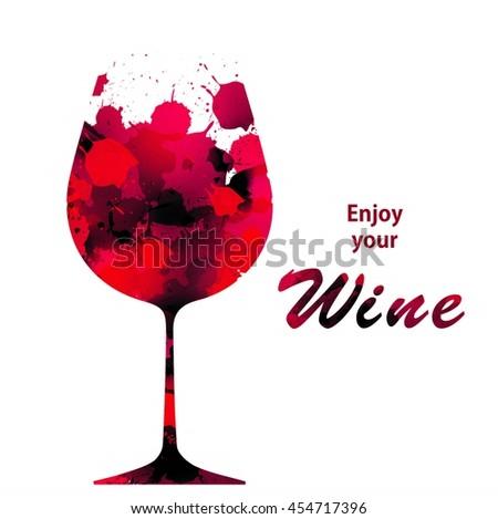 Vector Wine Background Brochure Template Your Stock Vector 2018