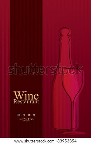 Vector. Wine list design - stock vector
