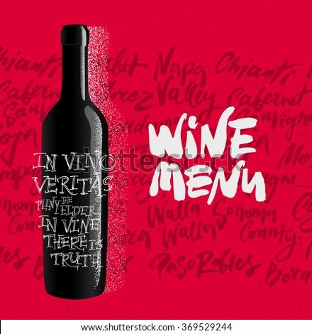 Vector Wine Menu Design - stock vector
