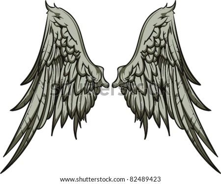Vector Wings - stock vector