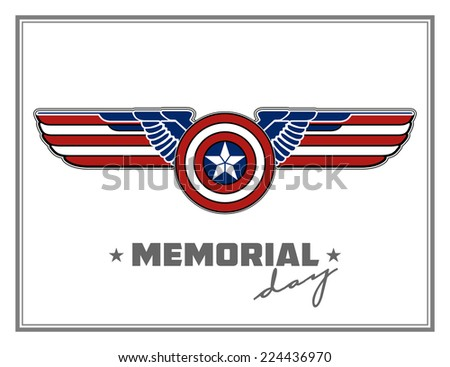 vector wings heraldry eagle Creative background abstract patriotism. USA Happy Independence memorial Day Patriot Illustration peace art flight copyspace seal template history border tag america united - stock vector