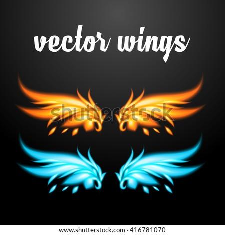 Vector wings - Phoenix. EPS 10 - stock vector