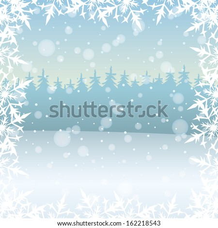 Vector. Winter background.