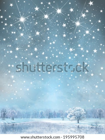 Vector winter background. - stock vector