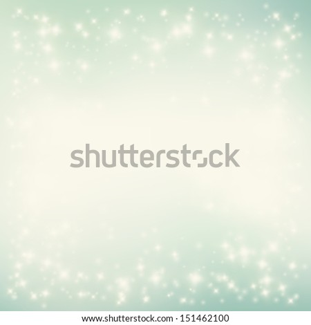 Vector winter background. Christmas backdrop. Snowflakes and starry sky - stock vector