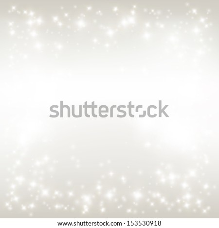 Vector winter background. Christmas backdrop. Starry sky with place for your text - stock vector