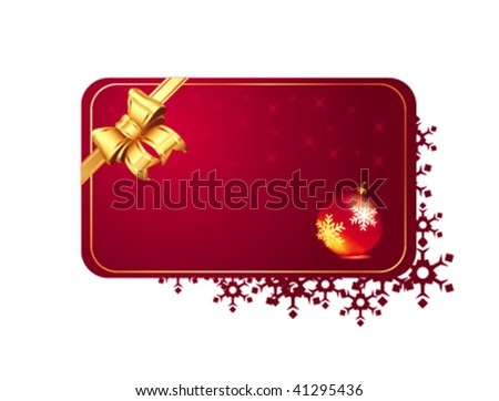 vector winter card
