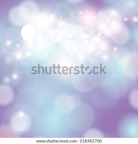 Vector winter festive Christmas elegant abstract background with bokeh lights and stars. - stock vector