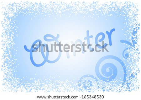 Vector winter glass - stock vector