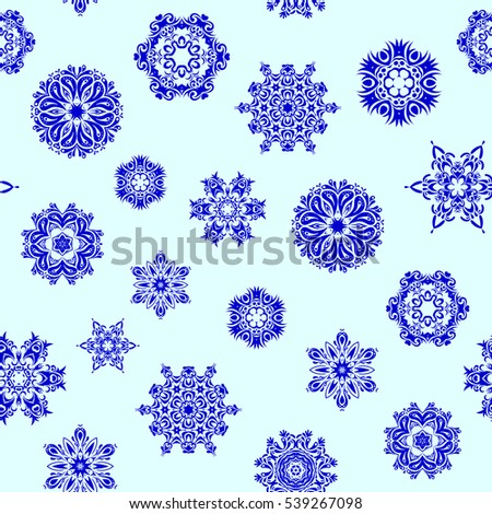 Vector winter pattern. Seamless design on neutral background. Abstract seamless with Floral Elements.