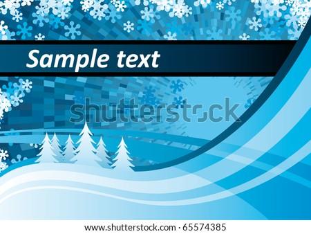 vector winter scene - stock vector