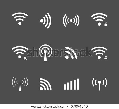 Vector wireless and wifi icon for remote access and communication via radio waves. remote access icon. Wireless label. Wi-Fi icon, Wi-Fi pictograph, Wi-Fi web icon, Wi-Fi icon vector - stock vector