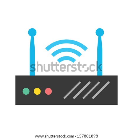 Vector Wireless Network Router - stock vector