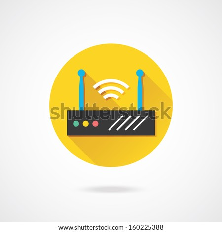 Vector Wireless Network Router - stock vector