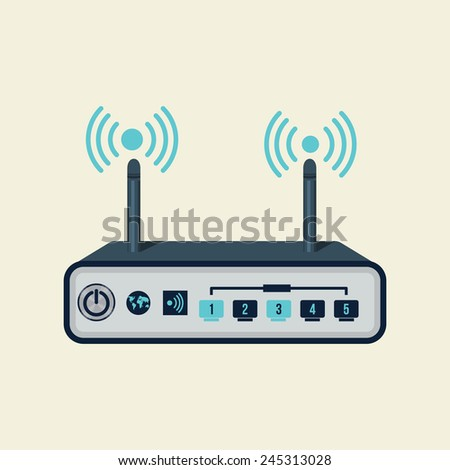 Vector  Wireless Router  - stock vector
