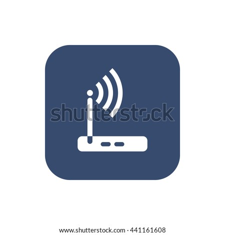 Vector wireless router icon wifi adsl ethernet modem hub . - stock vector