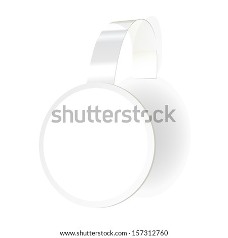 Vector wobbler with transparent strip isolated on a white background - stock vector