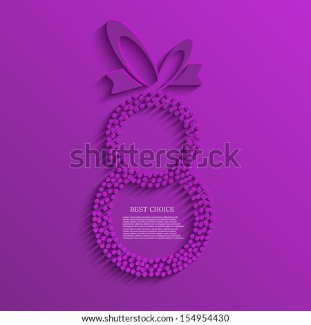 Vector women's day background. Eps10 - stock vector