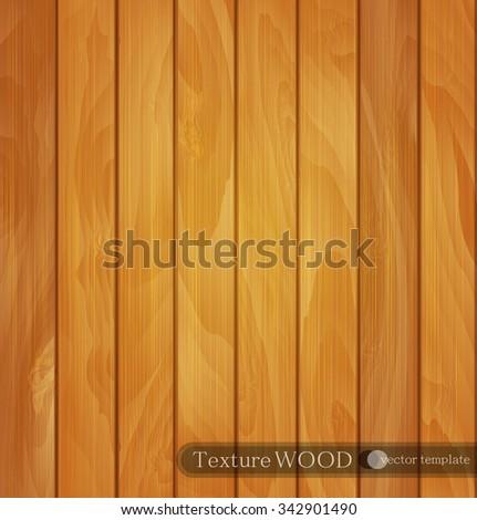 vector wood background- texture of light brown wooden planks - stock vector