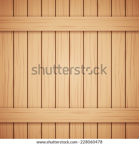 Vector Wood plank texture background. Vertical and horizontal backdrop. - stock vector