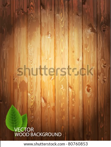 Vector wooden background. - stock vector