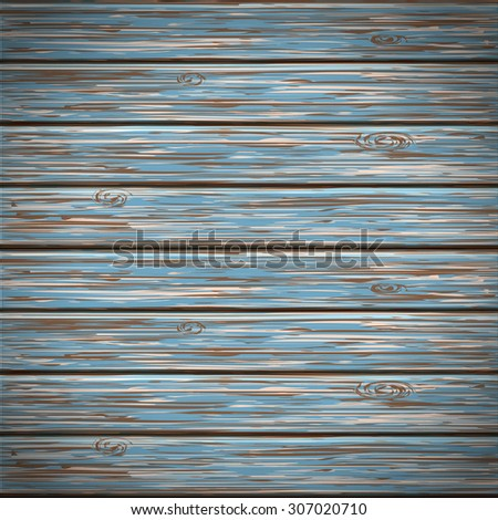 Vector wooden background  realistic with planks and boards - stock vector